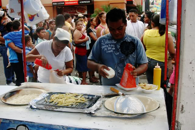 Food stand at La Ceiba Carnival