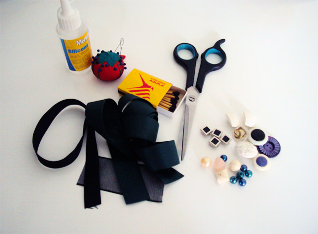 DIY Ribbon Statement Necklace Materials