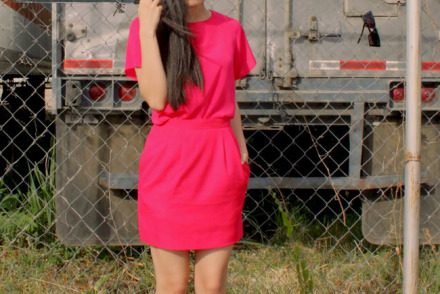 Pink monochrome outfit