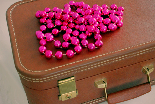 Pink carnival beads