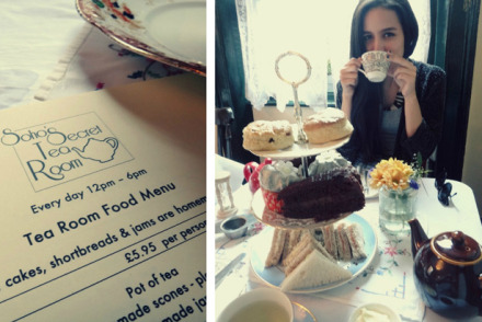 London secret tea room