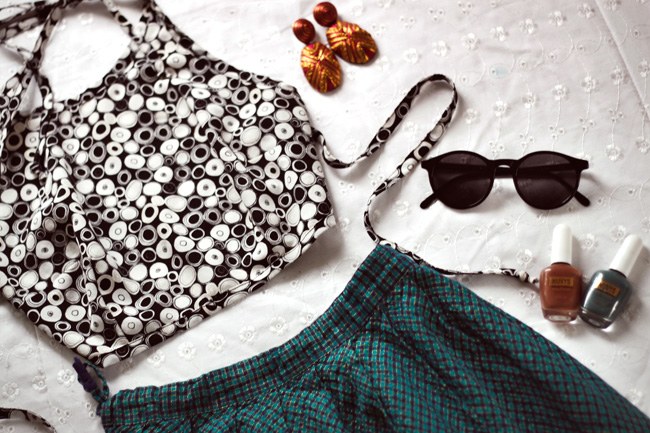 Crop Halter Top flatlay