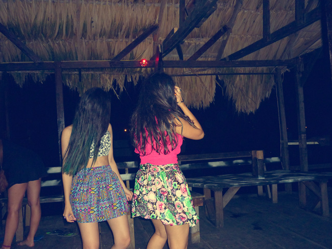Dancing at the beautiful island of Utila