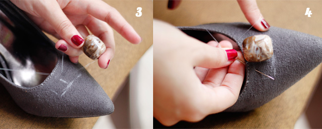 DIY Steps 3 & 4 to embellish your simple pumps