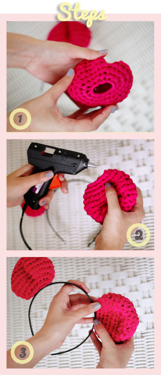 Steps to making the DIY bear ears headband