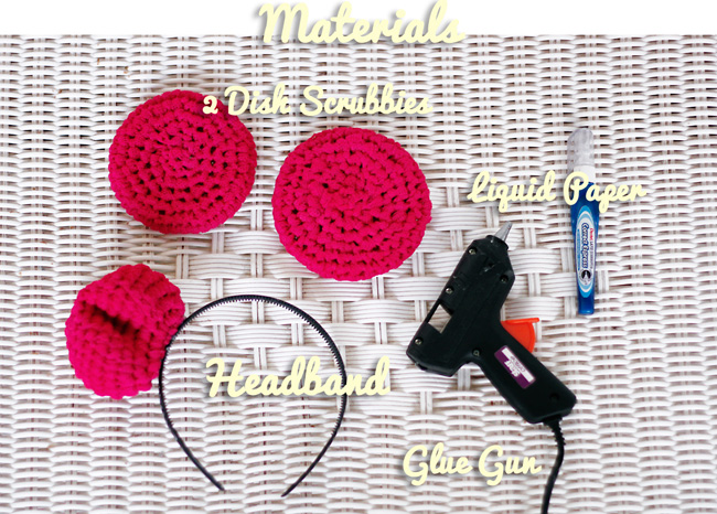 Materials you'll need to make the headband