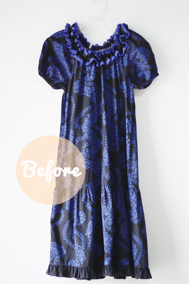 MuuMuu Dress Before Transformation